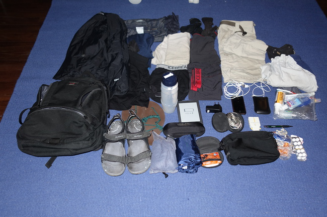 Complete equipment for my trip